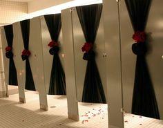 Bathroom stalls fir wedding