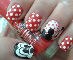 Love Mickey. Mickey mouse manicure nail art how-to