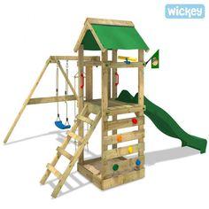 Simple Ich w nsche mir f r meine Tochter den WICKEY FreeFlyer Spielturm Kletterturm mit Rutsche Schaukel Sandkasten Zubeh r Komplettset gelbe Rutsche rote