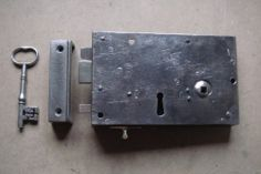"Georgian 7"" Steel Cased Lockable Rim Latch with Privacy Bolt of Circa 1810"