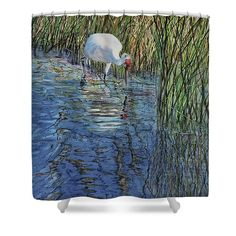 "Evening Sunlight Shower Curtain by Vicky Lilla.  This shower curtain is made from 100% polyester fabric and includes 12 holes at the top of the curtain for simple hanging.  The total dimensions of the shower curtain are 71"" wide x 74"" tall."