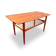 Danish Modern Tall Teak Coffee Table
