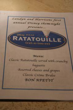 Disney Ratatouille Theme Night