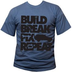 "All Things Jeep - ""Build, Break, Fix, Repeat"" Unisex Short Sleeved Shirt with Cherokee"