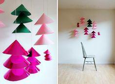 我們看到了。我們是生活@家。: 簡單可愛的DIY!像是一棵棵聖誕樹森林也像鈴鐺