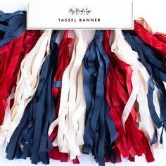 Stars & Stripes Tassel Banner – My Mind's Eye Paper Goods