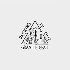 I'm super excited to be partnering up with @granitegear on a series of 3 illustrations. The first illustration is for a team of guys that Granite Gear sponsors. They are called the @packingitout crew, and they are currently hiking the PCT, picking up trash along the way and packing it out. Head over to their page, give them a follow, and support their cause! #whereigottago #granitegear