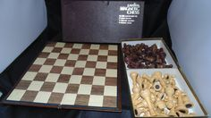Vintage Cavalier Magnetic Chess Board 1433 Wood Pieces Pacific Hollywood by AltmodischVintage on Etsy