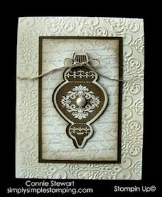 SIMPLY SIMPLE STAMPING with Connie Stewart: FLASH CARDS - Video No. 1 & 2