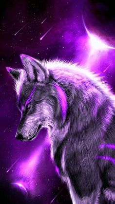 Animated Wolf Logo Wallpapers - Awesome collection wolf wallpapers, images, pictures, backgrounds, photos - For all your devices Anime Wolf, Fantasy Wolf, Dark Fantasy Art, Lion Wallpaper, Animal Wallpaper, Galaxy Wolf, Wolf Artwork, Wolf Spirit Animal, Wolf Painting