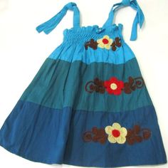 1 to 3 years old cotton dress-Girls cotton by PlanetEarthHandmade
