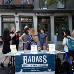 This weekend, our DUMBO Shack hosted their charitable partner, Badass Brooklyn Animal Rescue, for an adoption event outside the front doors of the Shack.