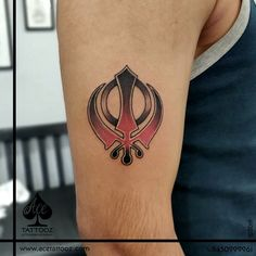 Khalsa tattoo it consists a total of three weapons and a circle: the khanda, 2 kirpans and the chakkar which is a circle. It represents duty to protect any innocent person. Done at ACE Tattooz & Art Studio INDIA with Kings Tattoo Supply Unique Tattoo Designs, Unique Tattoos, Cool Tattoos, Shiva Tattoo Design, Tattoo Lounge, King Tattoos, Tattoo Supplies, Deathly Hallows Tattoo, Tattoo Studio