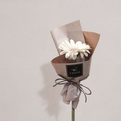 23 Ideas Flowers Birthday Bouquet Beautiful For 2019 How To Wrap Flowers, Bunch Of Flowers, Small Flowers, Pretty Flowers, Dried Flowers, Paper Flowers, Boquette Flowers, Single Flower Bouquet, Flower Bouquet Diy