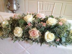 Country Wedding Bouquets, Blush Wedding Flowers, Wedding Table Flowers, Bridal Flowers, Floral Wedding, Floral Centerpieces, Wedding Centerpieces, Wedding Decorations, Church Flowers