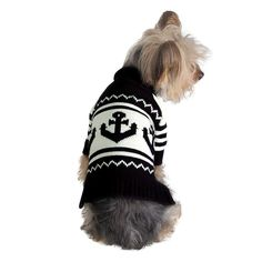 Stinky G Pull pour Chien Motif Ancre Bleu Marine #16 - XL: Amazon.fr: Animalerie