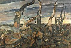 German Prisoners Painted by Frederick Horsman Varley - western front 1914-18 war.