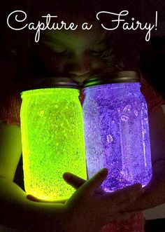 Fairy glow jars, glow mason jars, diy fairy jars, mason jar fairy lights, j Cute Crafts, Crafts To Do, Kids Crafts, Summer Crafts, Quick Crafts, At Home Crafts For Kids, Summer Fun, Spring Summer, Do It Yourself Inspiration