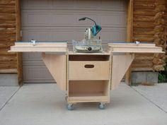Folding Bench For Sliding Miter Saw