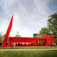 Serpentine Gallery Paviolion, Kensington Gardens, London.