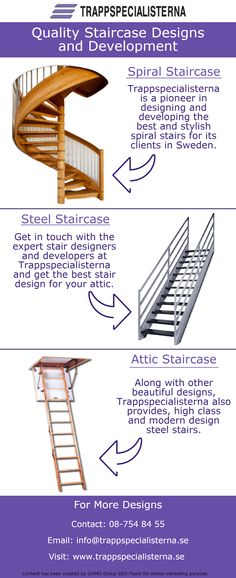 Trappspecialisterna designs and develops quality staircases for its clients in Sweden. It has provided various innovative designs to its clients and continues to do so.