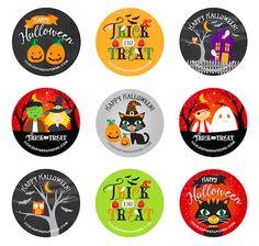 Halloween Clipart, Halloween 2020, Happy Halloween, Spooky Halloween, Halloween Plates, Halloween Treats, Bottle Cap Crafts, Bottle Caps, Imprimibles Halloween
