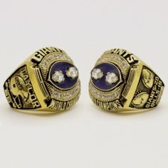 NFL New York Giants World Champions Silver Ring_2