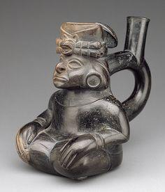 Seated figure bottle [Peru; Moche] (82.1.30) | Heilbrunn Timeline of Art History | The Metropolitan Museum of Art