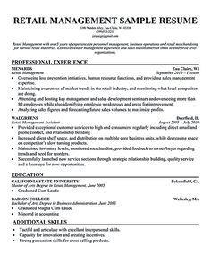 retail store manager resume retail manager resume is made for those professional employments who are seeking - Sample Resume For Retail