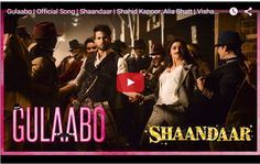 "Alia Bhatt and Shahid Kapoor launched their first song from the movie Shaandaar, titled Gulaabo, in Mumbai. Alia speak while her interview that ""I was extremely nervous because I was dancing with Shahid. I wanted to at least match up to him that is why I worked very hard""."