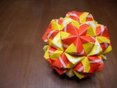 ユニット折り紙 二十・十二面体 【Modular origami】