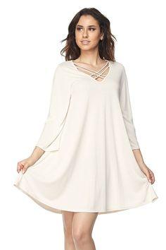 Kelly Brett Boutique - Plus Size Solid Swing Dress Ivory, $42.00 (https://www.kellybrettboutique.com/plus-size-solid-swing-dress-ivory/)