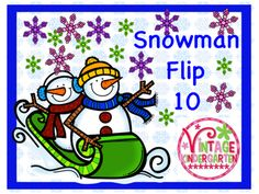 My kids love to play Flip 10. This snowman set includes a color and a black and white version of the game.  Sets using both numbers and 10 frames are included to provide differentiation for all of your students.  The snowflake card is a wild card. Practice sheets can be used for assessment.