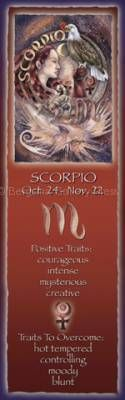 Zodiac Series / Scorpio - Bookmark  by Jody Bergsma