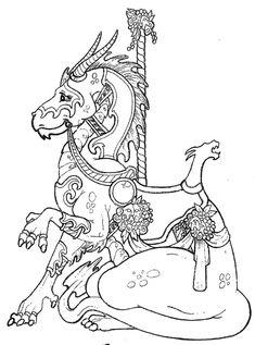 carousel dragon stamplistic