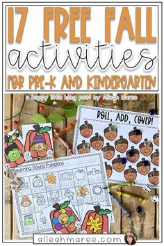 17 Free Fall Activities for Pre-K and Kindergarten — Alleah Maree
