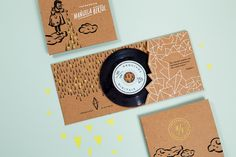 Manuela Bertol Photography Brand Identity Illustrations Cd Case and Cd Label •Design by Braizen•