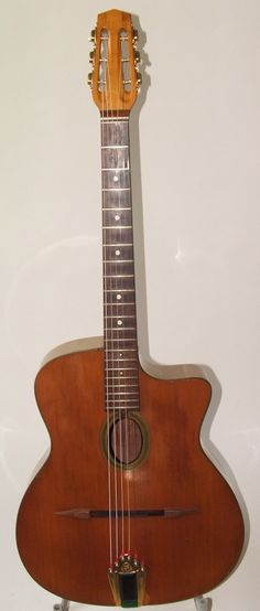 A beautiful example of a classic gypsy guitar.