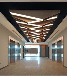 Interior Ceiling Design, House Ceiling Design, Ceiling Design Living Room, Bedroom False Ceiling Design, Ceiling Light Design, Modern Ceiling, Office Interior Design, Interior Lighting, Wall Design