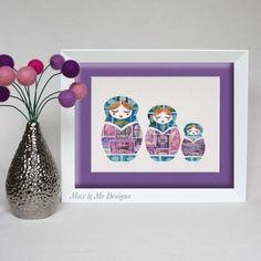 DIY - Idée déco : un tableau fait avec des timbres (stamps illustration)