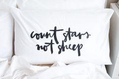 Count Stars not Sheep Pillowcase - Jasmine Dowling