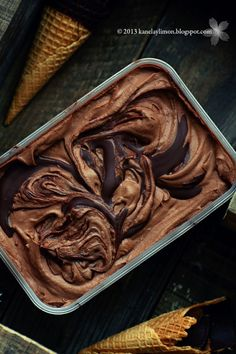 Nutella ice cream (the photo here is great, although the recipe I actually used was here: www.carriessweetl... )