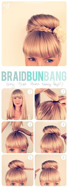 Braided Updo Hairstyles Tutorials: High Bun Updos