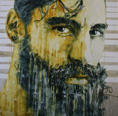 """""""the hole of an habergeon"""" Art by Munro Men Of Courage, South African Artists, Artist Art, Portrait, Face, Painting, Women, Painting Art, Portrait Illustration"""