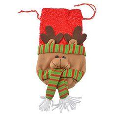 Hoomall 1PC Housse de Vin Couverture Bouteille de Vin Wapiti Noël Rouge: Taille : 30.5x14cm Idéal pour la décoration de Noël ou cadeau de…