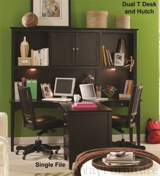 Chelsea Dual T Desk and Hutch