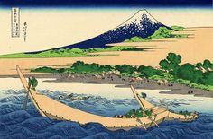 Shore of Tago Bay, Ejiri at Tokaido - Кацусика Хокусай
