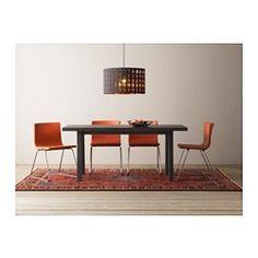 BERNHARD Chair, chrome plated, Mjuk orange - IKEA