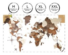 Wall Wooden Map of the World Map Travel Push Pin Map Rustic Home Wood Wall Art Anniversary Gift for Husband Boyfriend Wall Art Decor Anniversary Gifts For Husband, Wood World Map, World Map Wall Art, Map Art, Art Décor, Map Wall Decor, Wall Maps, World Map Travel, Home Decor