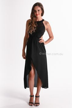 marilyn maxi - black | Esther clothing Australia and America USA, boutique online ladies fashion store, shop global womens wear worldwide, designer womenswear, prom dresses, skirts, jackets, leggings, tights, leather shoes, accessories, free shipping world wide. – Esther Boutique